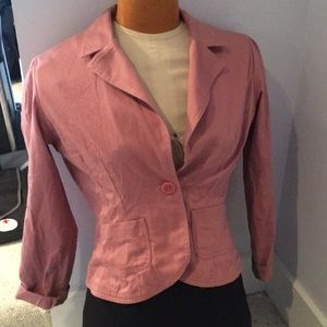 Target brand pink blazer with paisley lining